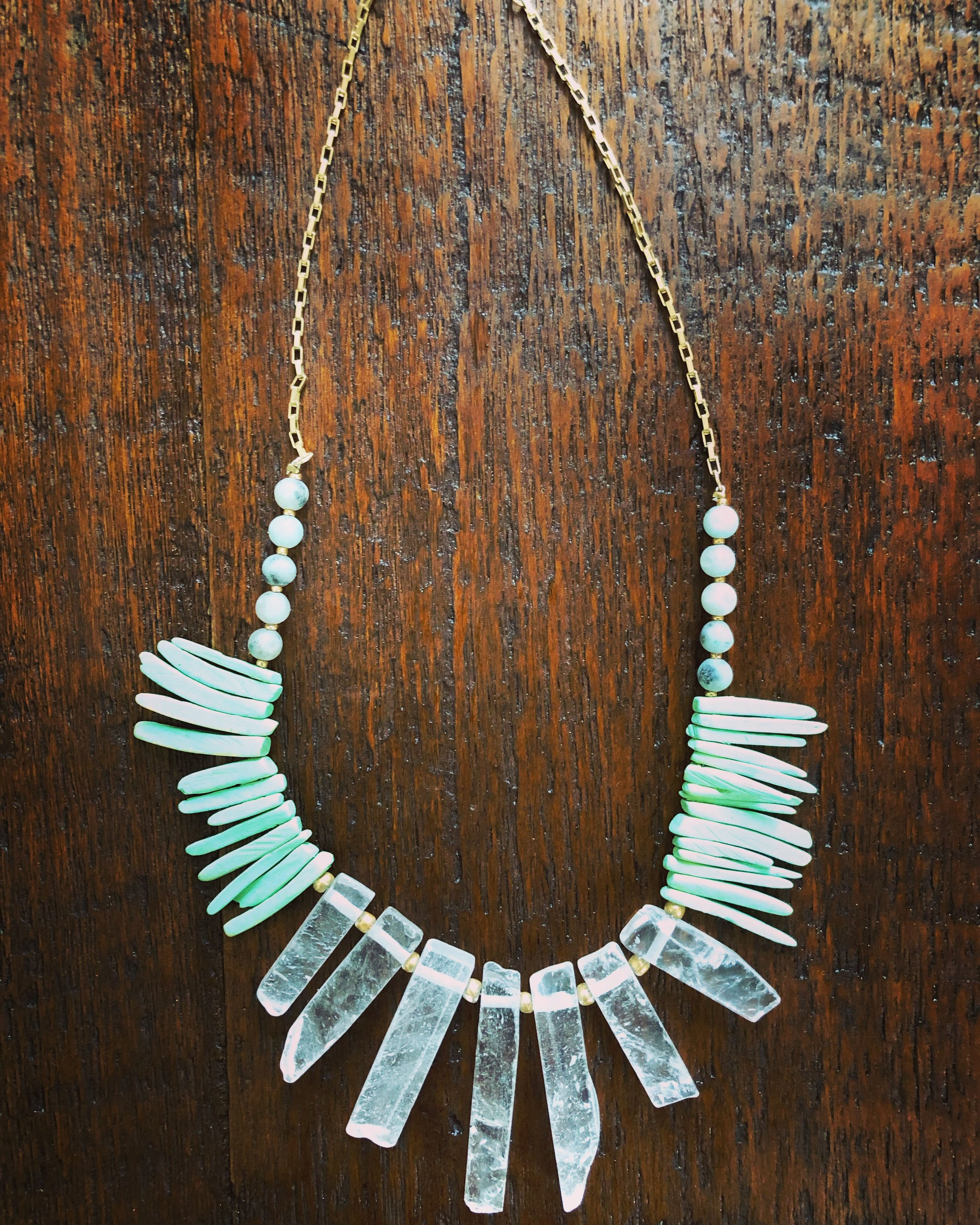 Stone Statement Necklace - $27.99