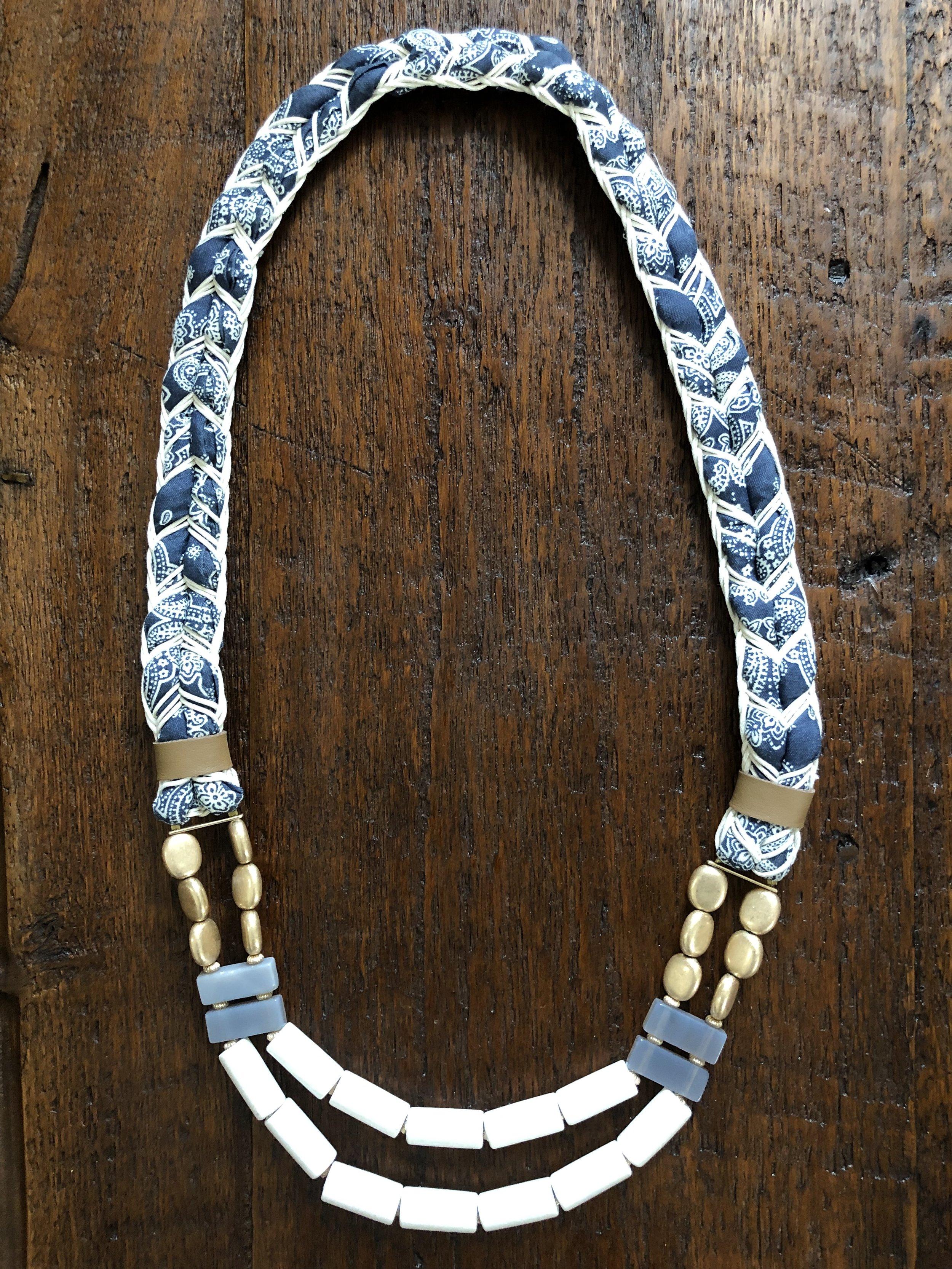 Bandana & Bead Necklace - $27.99
