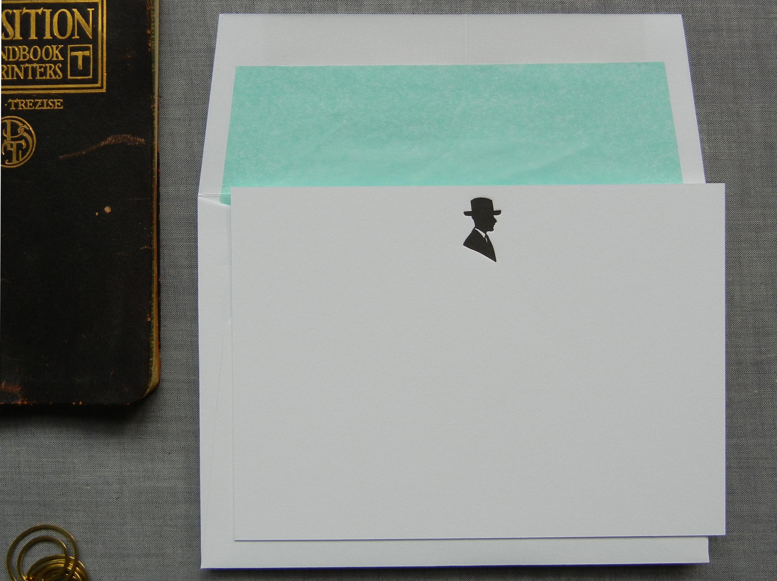 Gentleman note cards