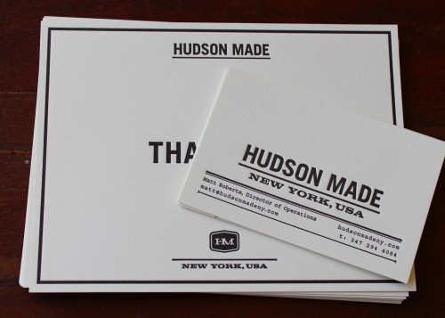 Hudson Made professional stationery
