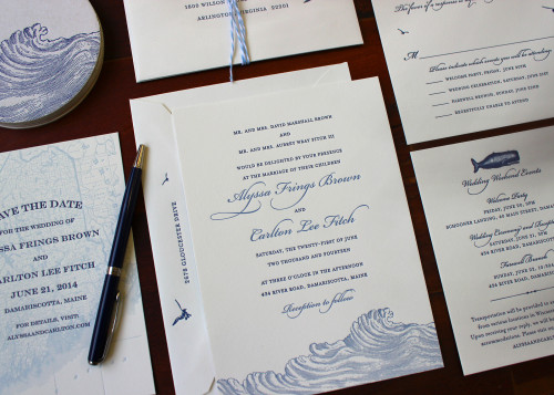navy-blue-summer-wave-ocean-maritime-letterpress-wedding-invitation