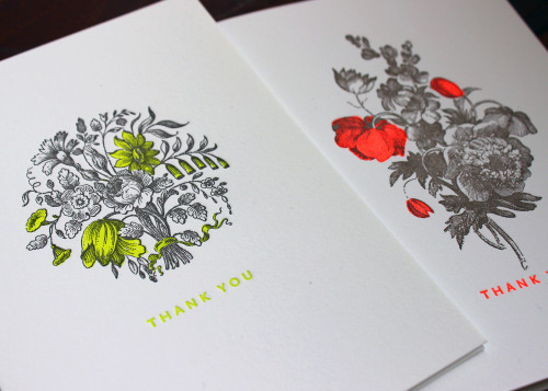 neon-yellow-red-bouquet-floral-thanks-letterpress-card-sesame