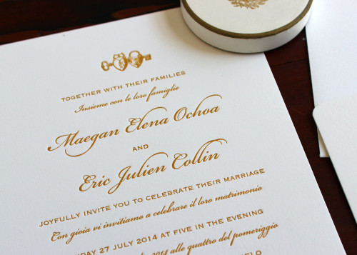 italian-english-gold-heart-script-letterpress-wedding-invite
