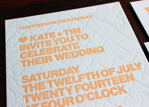 blind-texture-tangerine-orange-modern-letterpress-wedding-invitation