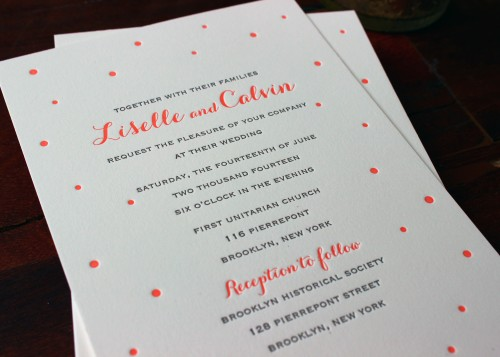 coral-carolyna-script-dots-letterpress-wedding-invitation-sesame