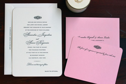 pink-paper-script-letterpress-wedding-invitation