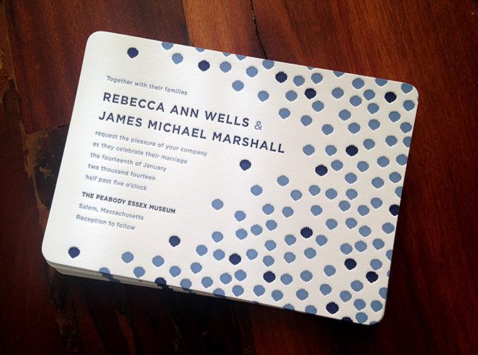 navy-blue-ikat-dot-letterpress-wedding-invitation-sesame
