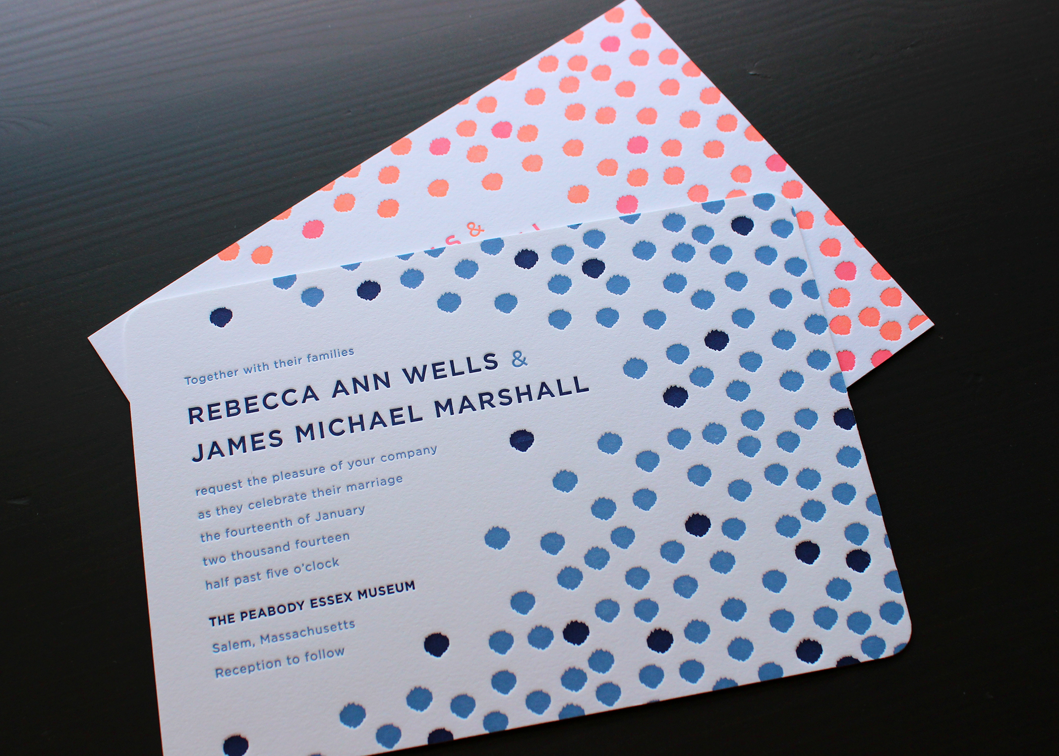 blue-pink-confetti-letterpress-wedding-invitation