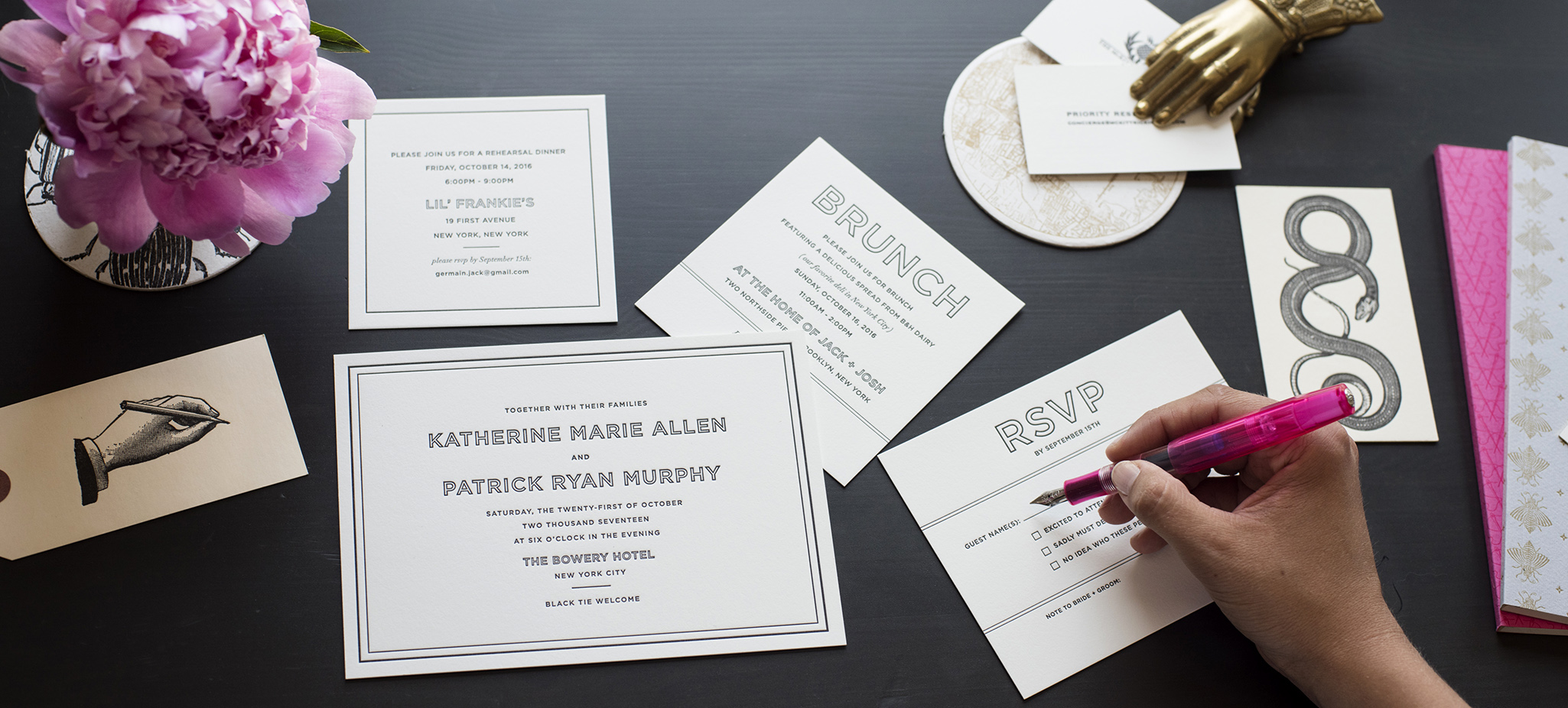 Welcome  to sesame letterpress printers of bespoke fine stationery  Est. 1999