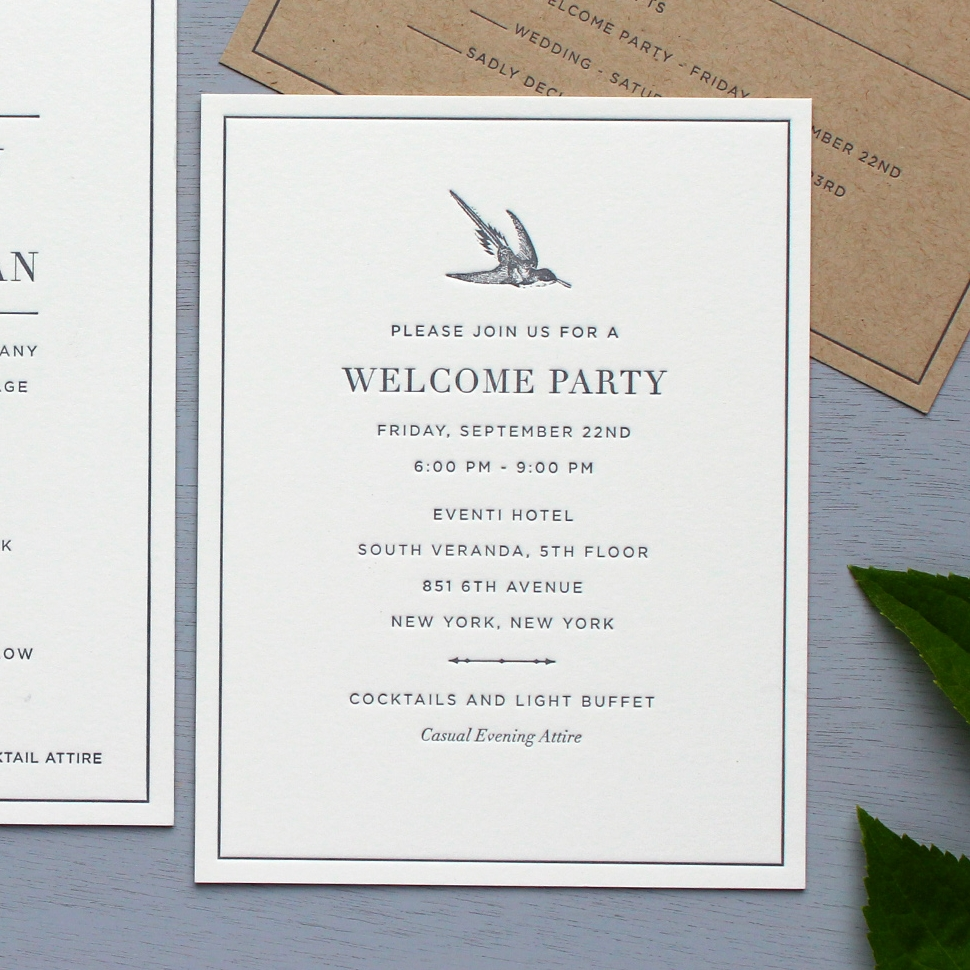 Welcome Party Card
