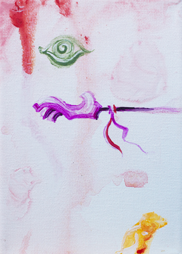 10.1.13  > Reaching > Symphony > 5x7 inch Acrylic Painting on canvas > CLICK IMAGE TO PURCHASE