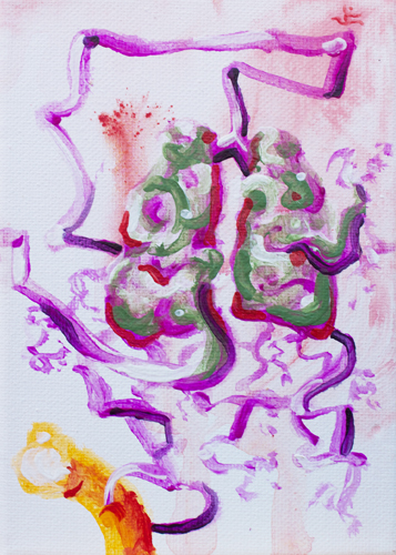 10.8.13  > Breathing > Symphony > 5x7 inch Acrylic Painting on canvas > CLICK IMAGE TO PURCHASE