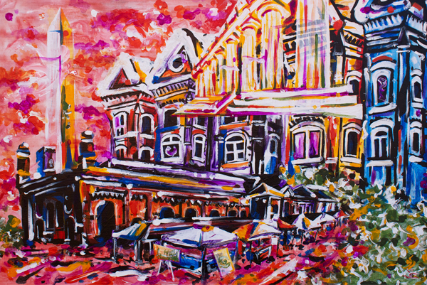 11.2.13  > District Of Columbia > 36x24 inch Acrylic Painting on canvas > CLICK IMAGE TO PURCHASE