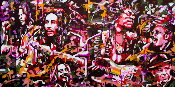 9.14.13  > Strings > 48x24 inch Acrylic Painting on canvas > CLICK IMAGE TO PURCHASE