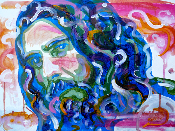 11.27.12  > George > 24x18 inch Acrylic Painting on canvas > CLICK IMAGE TO PURCHASE