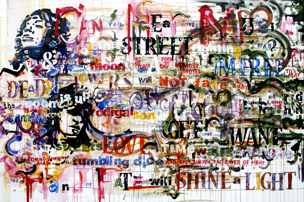 3.8.11  > Chapter I: Exile > 72x48 inch Acrylic Painting on canvas > CLICK IMAGE TO PURCHASE