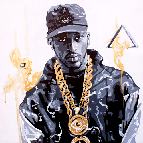 2.27.14  > Hip. Hop. > 24x24 inch Acrylic Painting on wood > CLICK IMAGE TO PURCHASE