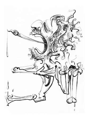 5.25.13  > Preparing A Symphony > 8.5x11 inch Pen Drawing on paper > CLICK IMAGE TO PURCHASE