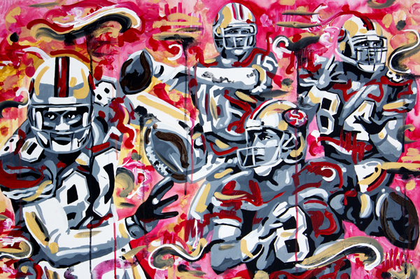 3.22.13  > 49 > 36x24 inch Acrylic Painting on canvas >  NOT AVAILABLE FOR PURCHASE