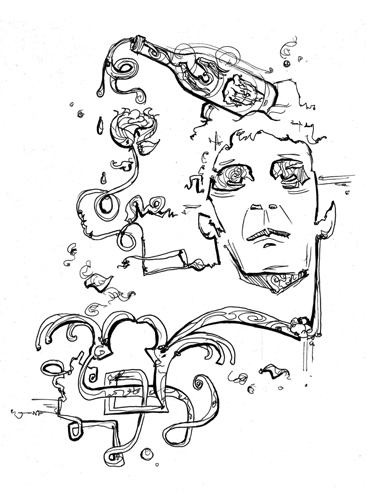 2.18.13  > Sweet Jane > 8.5x11 inch Pen Drawing on paper > CLICK IMAGE TO PURCHASE