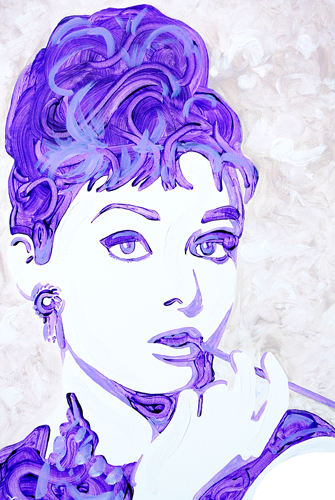 12.14.12  > In Violet > 24x36 inch Acrylic Painting on canvas >  NOT AVAILABLE FOR PURCHASE