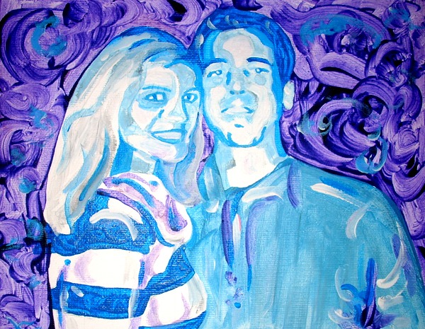11.24.12  > Mr And Mrs Kelly > 10x8 inch Acrylic Painting on canvas > NOT AVAILABLE FOR PURCHASE