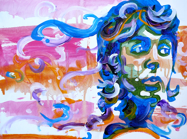 11.26.12  > Paul > 24x18 inch Acrylic Painting on canvas > CLICK IMAGE TO PURCHASE