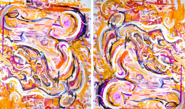 6.10.12  > Trying To Fly > 36x48 inch Acrylic Painting on canvas. Live Painted 6.6.12. > CLICK IMAGE TO PURCHASE