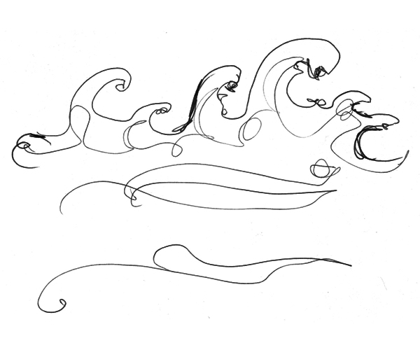 5.5.12  > Ocean Minded > 8.5x11 inch Pen Drawing on paper > NOT AVAILABLE FOR PURCHASE