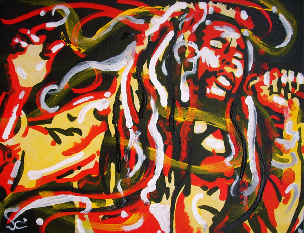 12.16.11  > Mighty Mystic > 18x14 inch Acrylic Painting on canvas > NOT AVAILABLE FOR PURCHASE