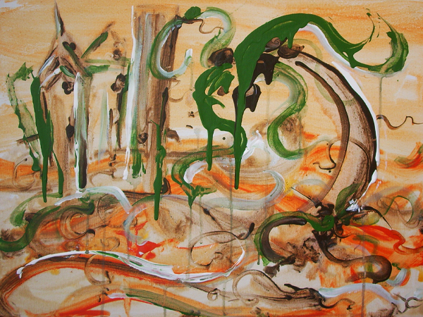 9.10.11  > Always Home > 24x18 inch Acrylic Painting on canvas > NOT AVAILABLE FOR PURCHASE