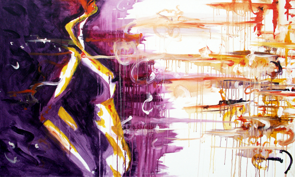 8.25.11  > Intentions Of Breathing > Collaboration with Terra Anderson > 60x36 inch Acrylic Painting on canvas > CLICK IMAGE TO PURCHASE