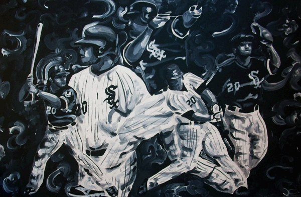 2.6.11  > Carlos Quentin > 36x24 inch Acrylic Painting on canvas > NOT AVAILABLE FOR PURCHASE