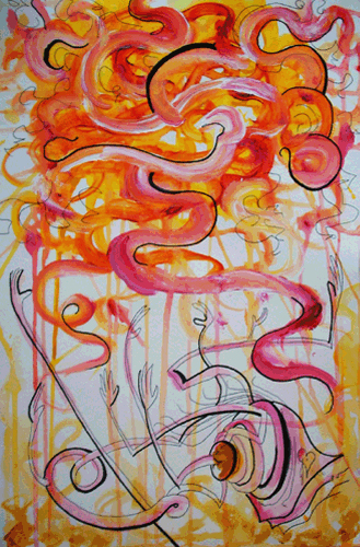 11.25.10  > Given The Sun > 12x18 inch Acrylic Painting on paper > NOT AVAILABLE FOR PURCHASE