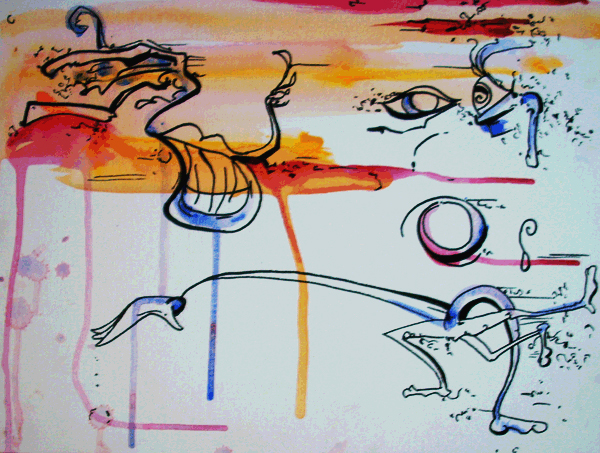 11.26.10  > Senses Full Of Reaching > 20x16 inch Acrylic Painting on canvas > NOT AVAILABLE FOR PURCHASE