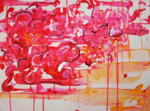 11.27.10  > Dripping Light And Shining > 24x18 inch Acrylic Painting on canvas. Live Painted 11.24.10. > NOT AVAILABLE FOR PURCHASE