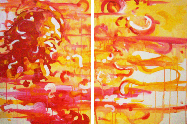 11.10.10  > Danger Us > Pair of 18x24 inch Acrylic Paintings on canvas > NOT AVAILABLE FOR PURCHASE