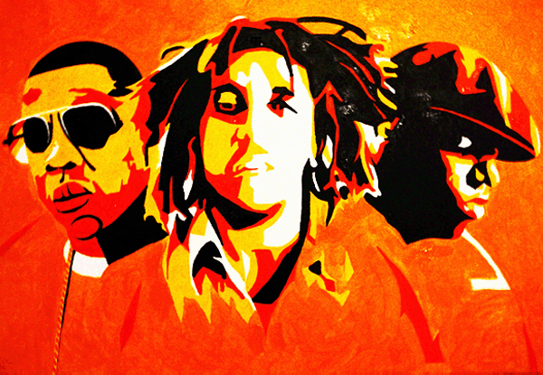 8.2.10  > Decades Of Rhythm > 36x24 inch Acrylic Painting on canvas > NOT AVAILABLE FOR PURCHASE