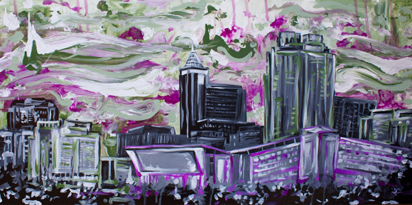 8.30.14  > Raleigh > 48x24 inch Acrylic Painting on canvas > CLICK IMAGE TO PURCHASE