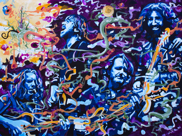 Growing Symphonies > 48x36 inch Acrylic Painting on canvas