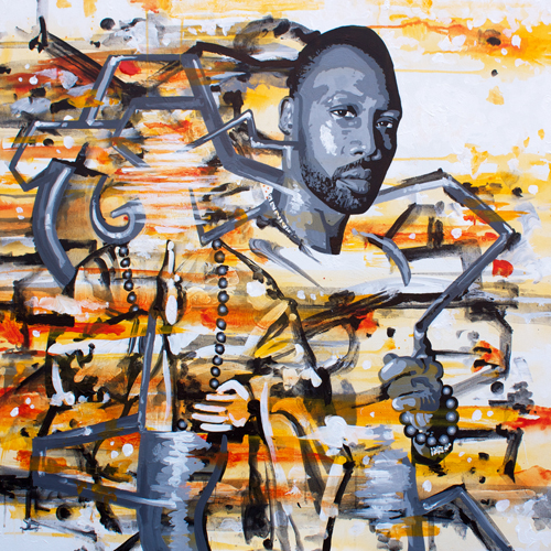 11.29.14  > The Abbot > 36x36 inch Acrylic Painting on canvas > CLICK IMAGE TO PURCHASE
