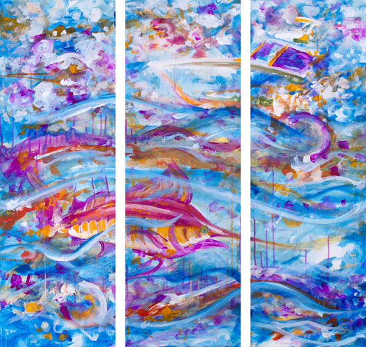 12.11.14  > Wavelength > 3 12x36 inch Acrylic Paintings on canvas > CLICK IMAGE TO PURCHASE