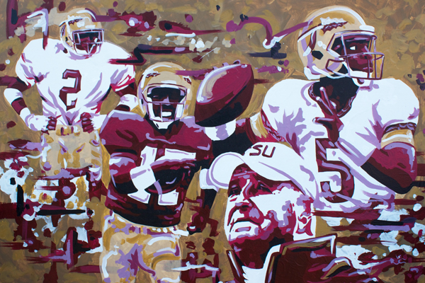12.31.14  > The Florida State University > 36x24 inch Acrylic Painting on canvas > NOT AVAILABLE FOR PURCHASE