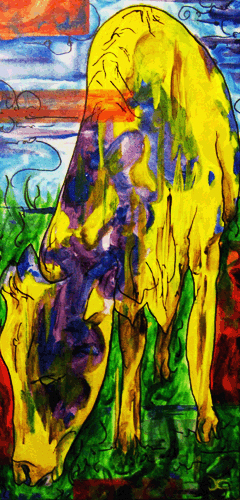 9.19.09  > The Country > 12x24 inch Acrylic Painting on canvas > NOT AVAILABLE FOR PURCHASE