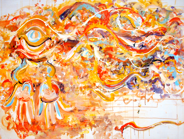 1.21.13  > Giving > 48x36 inch Acrylic Painting on wood > CLICK IMAGE TO PURCHASE