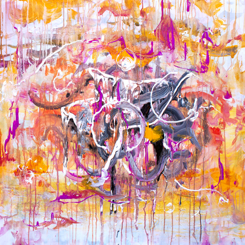 3.25.15  > The Underneath > 36x36 inch Acrylic Painting on canvas > CLICK IMAGE TO PURCHASE
