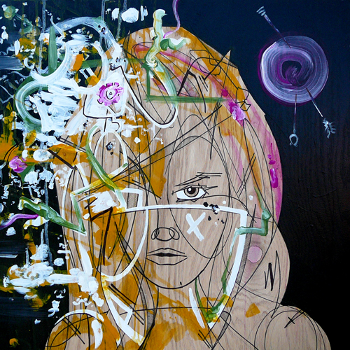 Passion Mechanics > 24x24 inch Acrylic Painting on wood