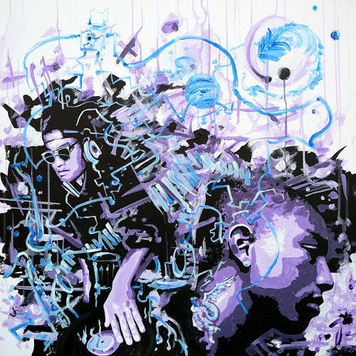 Beyond > 36x36 inch Acrylic Painting on canvas