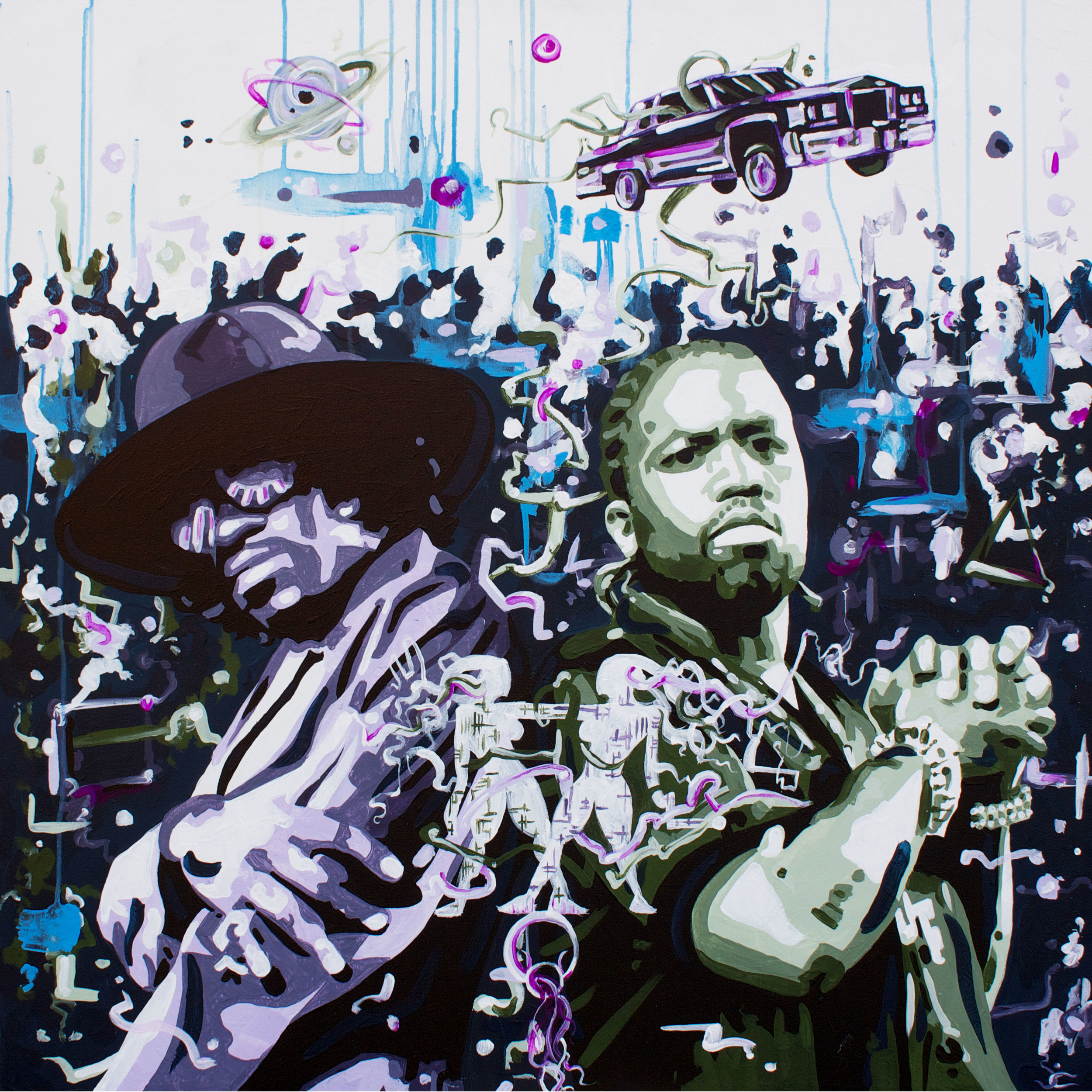 Soularintuisticdopealociusinnervision > 36x36 inch Acrylic Painting on canvas
