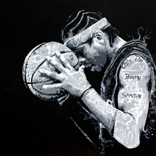 Bubba Chuck > 24x24 inch Acrylic Painting on canvas